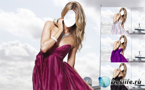Костюм для девушек - В красивом платье на корабле