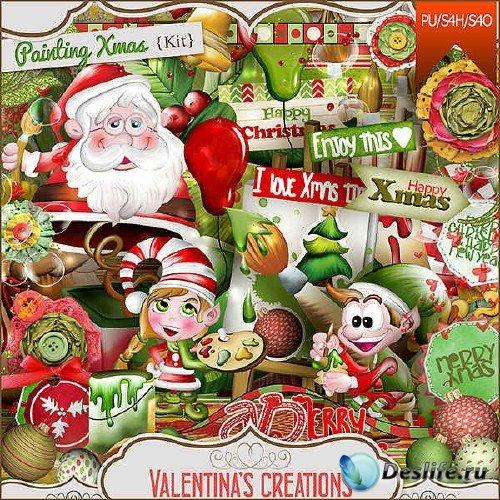 Скрап-набор - Рождественская живопись