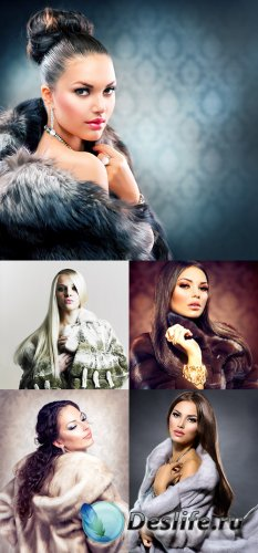Растровый клипарт - Женщины в мехах 2