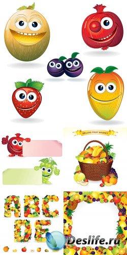 Коллекция весёлых фруктов