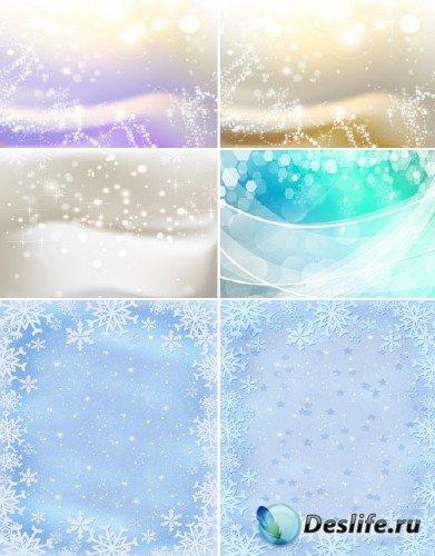 Нежные снежинки (набор зимних фонов)