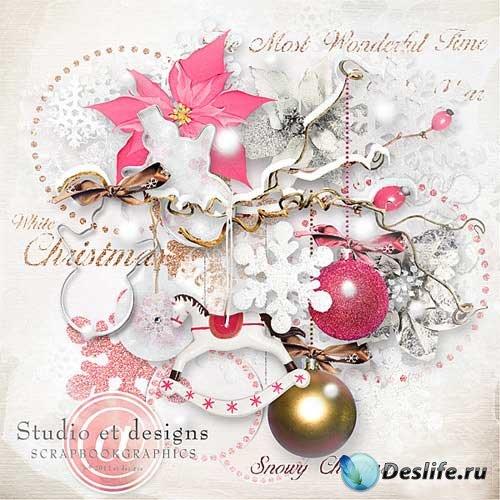 Зимний скрап-комплект - Снежное Рождество