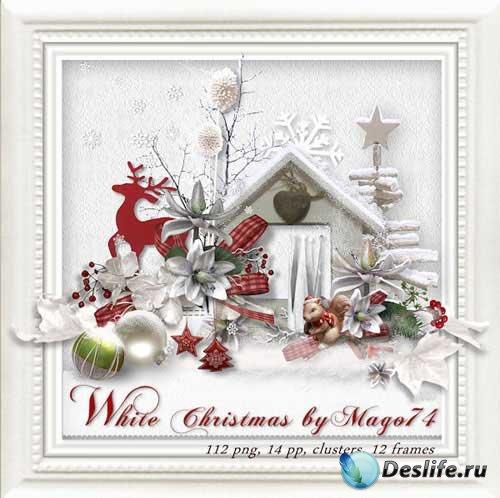 Прекрасный рождественский скрап-комплект - Рождество в белом