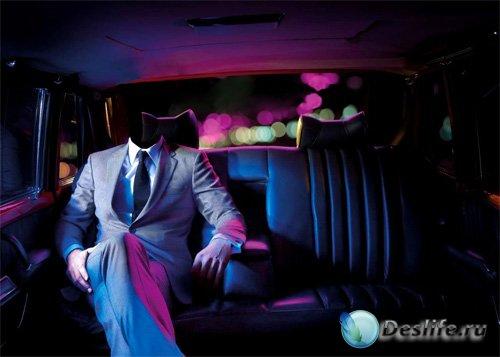 Мужской костюм - Поездка вечерняя в авто по яркому городу
