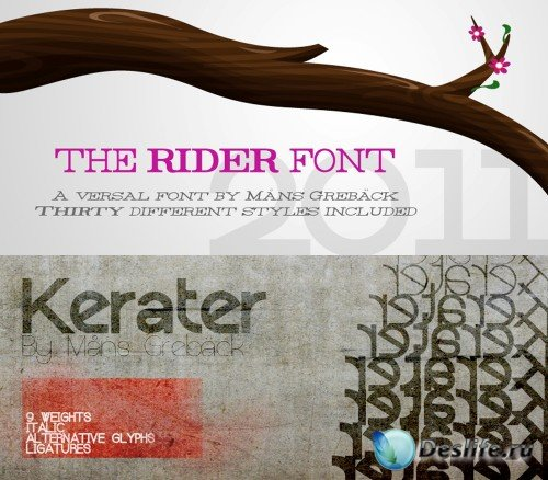 Fonts kerater, rider
