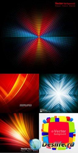 Коллекция векторных абстрактных фонов 32