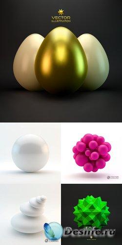 Векторный клипарт - 3D объекты 2