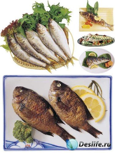 Рыба приготовленная (подборка клипарта)