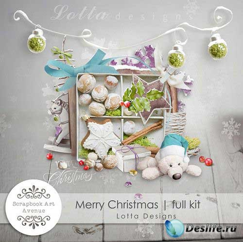 Прекрасный рождественский скрап-комплект - Весёлого Рождества