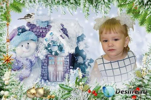 Рамка Веселый снеговик