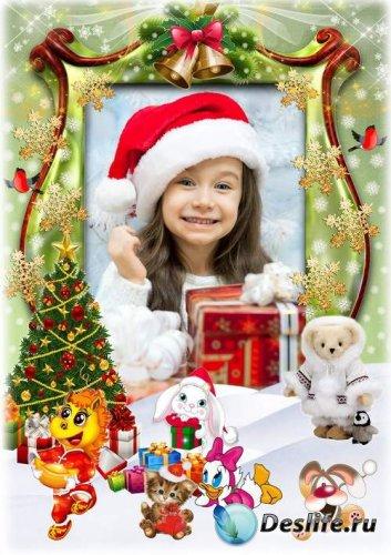 Праздничная детская рамка для фото - Зимние каникулы