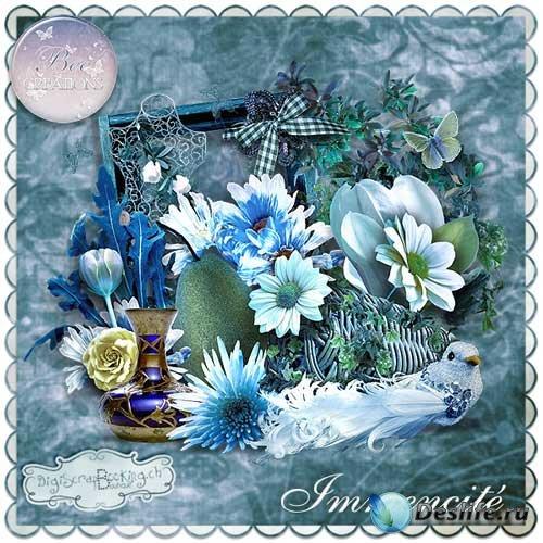 Прекрасный цветочный скрап-комплект - Грандиозность