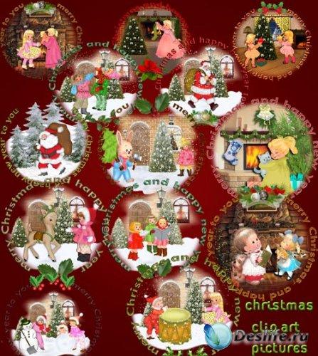 Клипарт PNG - Рождественские этикетки
