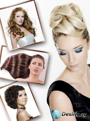 Прически, волосы, визаж - подборка клипарта