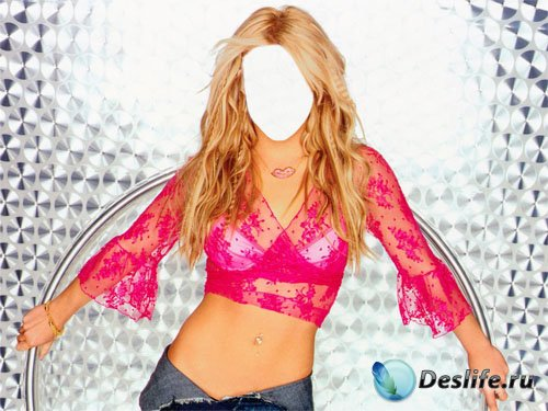 Костюм для фотомонтажа - Стройная блондинка