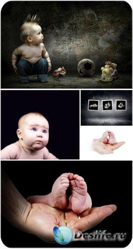 Маленькие дети, креативные сток фото