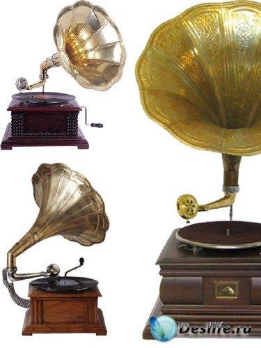 Граммофон, патефон - подборка клипарта