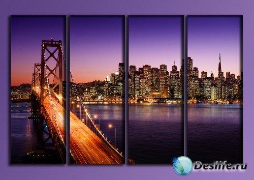 Полиптих - Огни ночного Сан - Франциско