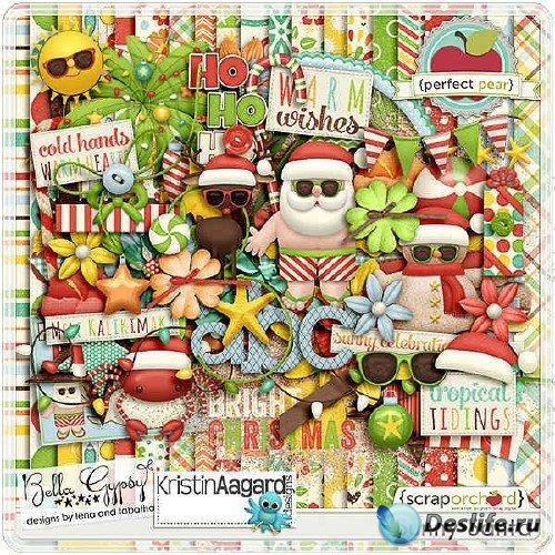 Праздничный скрап-комплект - Sunny Santa