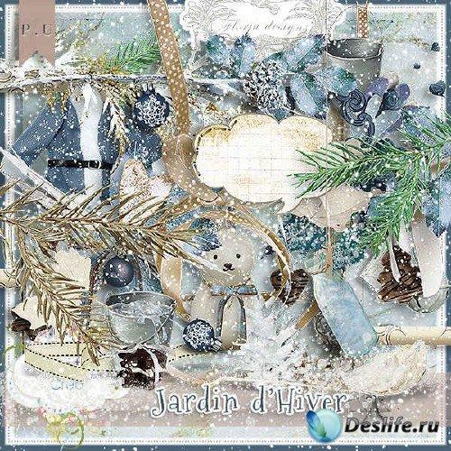 Отличный скрап-комплект - Зима в саду