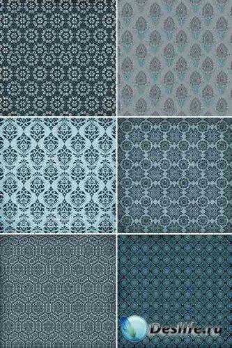 Синие орнаменты (набор фонов)