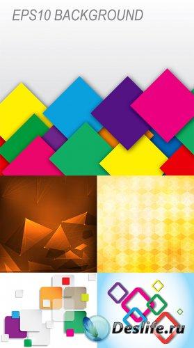 Коллекция векторных абстрактных фонов 34