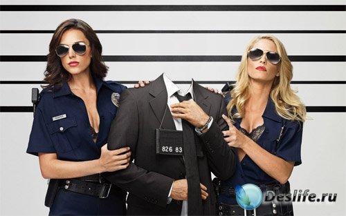 Мужской костюм - Задержание двумя полицейскими