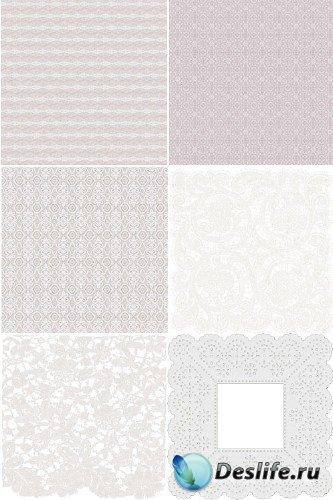 Белые кружева (набор фонов)
