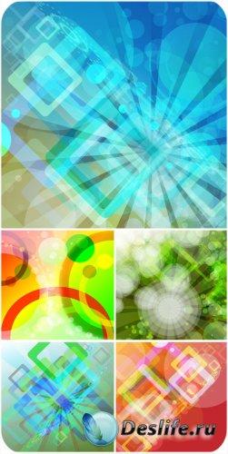 Абстракция, красочные векторные фоны
