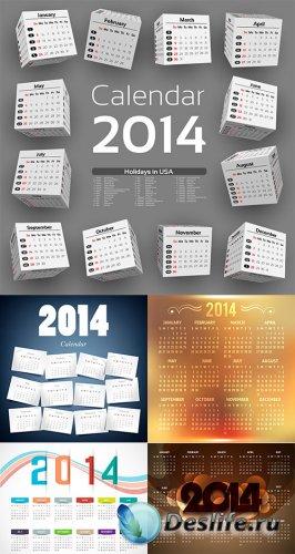 Календари 2014 в векторе 3