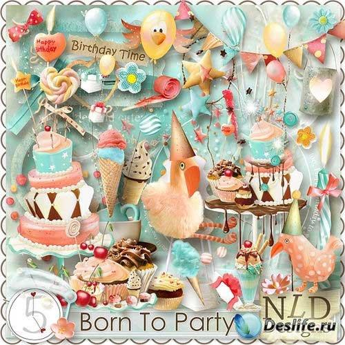Красивый праздничный скрап-комплект - Вечеринка в честь Дня Рождения