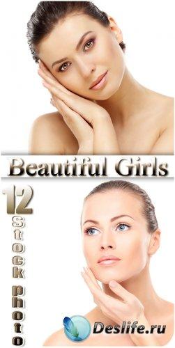 Женская красота, красивые девушки - сток фото