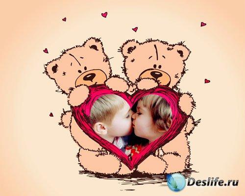 Рамка для фотошопа - Настоящая любовь