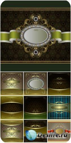 Винтажные векторные фоны, фоны с орнаментами