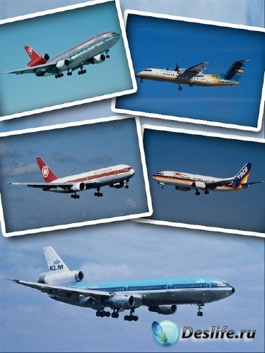 Воздушный транспорт: Пассажирские авиалайнеры (подборка клипарта)