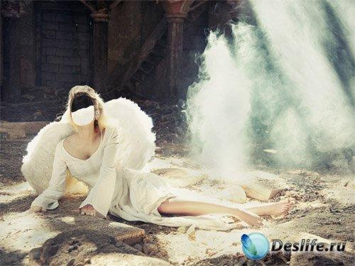 Костюм женский - Ангел с крыльями спустилась на Землю