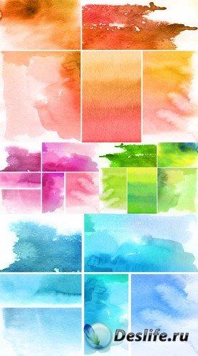 Четырехцветные акварели (набор фонов)