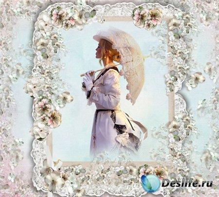 Рамка женская – Весну любви один раз ждут