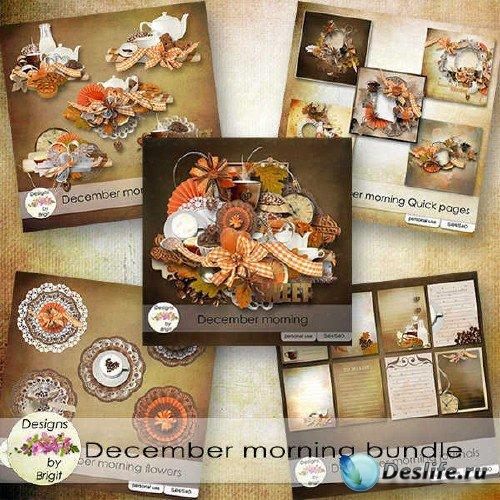 Креативный скрап-комплект - December morning