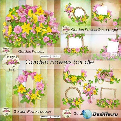 Изумительный цветочный скрап-комплект - Цветочный сад