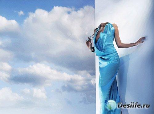 PSD костюм - В голубом роскошном платье