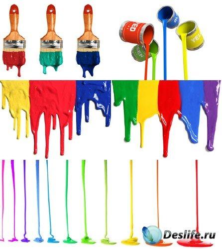 Потеки краски (набор фонов)