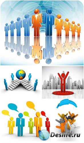 3Д  бизнес люди - вектор