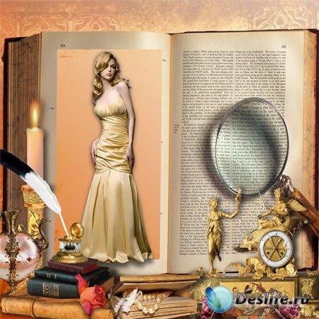 Рамка женская – Открытая книга
