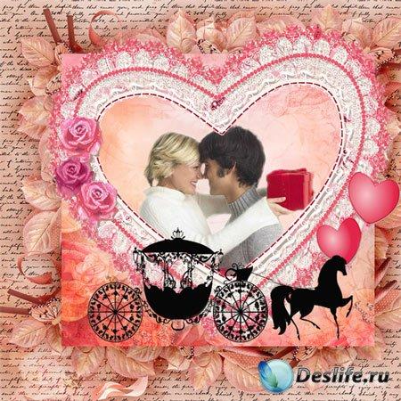 Рамка романтическая – Моё сердце остановилось, моё сердце замерло