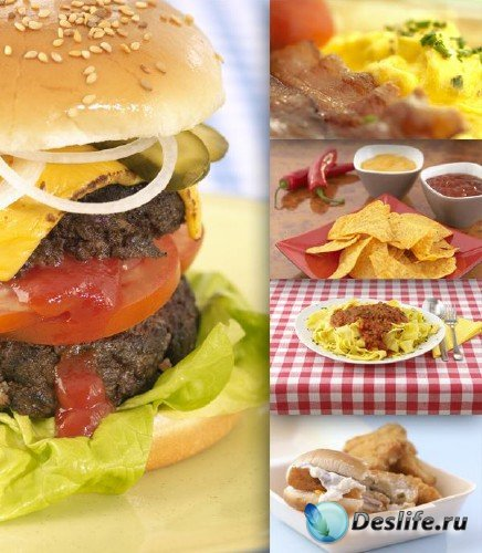 Фастфуд: гамбургер, бутерброд, пицца, хлопья, хот дог и др. (часть 2)