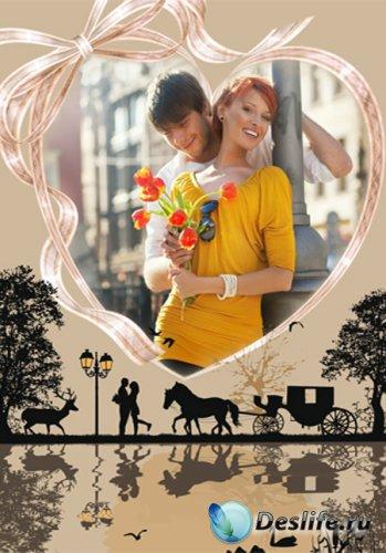 Рамка романтическая – Встречи при луне