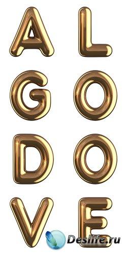 Золотые буквы в растре + бонус