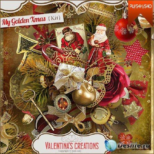 Скрап-комплект - Золотые краски Рождества