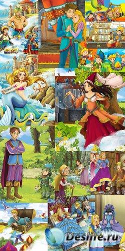 Сборник детских картинок из разных сказок